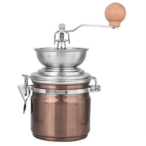 Roestvrij stalen handkoffiemolen hand roestvrij staal retro koffiekruiden mini grat molen met hoogwaardige