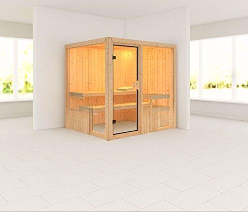Palin - Karibu Sauna ohne Ofen - ohne Dachkranz -