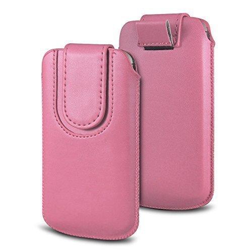 N4U Online Various Farbig Magnetisch PU Leder Zug Kippen Tab Schutzhüllen Tasche für Doogee F3 Pro - Babyrosa