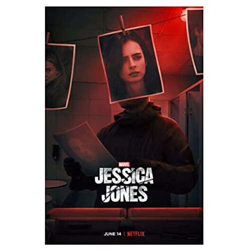Póster de Jessica Jones Temporada 3 imágenes clásicas Regalo estético decoración del hogar para niños 50x70cmx1 sin Marco