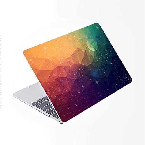 SDH Más nuevo para MacBook Pro 13 pulgadas caso 2020 liberación Touch Bar & ID Modelo: A2338/A2289/A2251 funda para portátil y teclado cubierta piel 4 en 1 paquete, cielo estrellado 4
