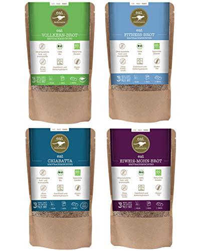 eat Performance® Brotbackmischung Box (4 Sorten) - Bio, Paleo, Vegan, Glutenfreies Brot Aus 100% Natürliche Zutaten