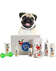 Captain Zack - The Pug Groom Box – Ultimate 8-in-1, Head-to-Paw Groom-Kit for Your Dog - (Shampoo +Conditioner +Dry Shampoo +Paw Butter +Toy +Towel) - pH Neutral and Paraben Free