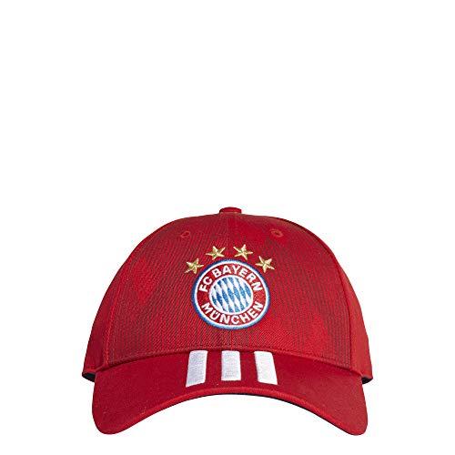 adidas FCB 3S Cap - Kappe 3. FC Bayern, Unisex, Kinder, rot (ROJFCB/Blanco/Maruni)