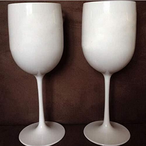 2 Stücke Champagnerflöten, Champagner-Gläser, Weinparty Champagner-Coupes Glas Cocktail Glas Champagner-Flöten-Plattieren Weinbecher Becher Galvanisierte Plastikbecher (Color : White)