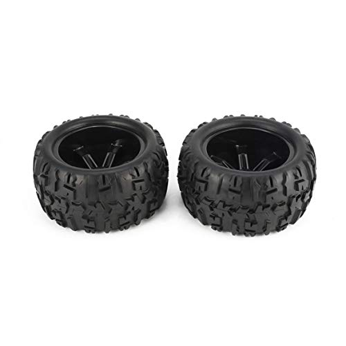 Best Buy! Pandamama 2Pcs 150mm Monster Truck Wheel Rim and Tire for for 1/8 Traxxas Racing RC Car