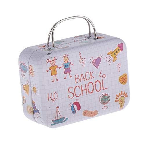 Mini Maleta para Casa de Muñecas, Dollhouse Equipaje de Viaje para Muñecas de 1/6 BJD 7.2x5.7x3.5cm - Rosa