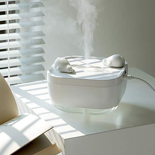 LJQ Luftbefeuchter USB Mini Tragbarer Haushaltsbefeuchter Ultraschall Silent Schlafzimmer Luftbefeuchter Mit Ventilator Nachtlicht Luftbefeuchter Schlafzimmer Wohnzimmer Babyzimmer