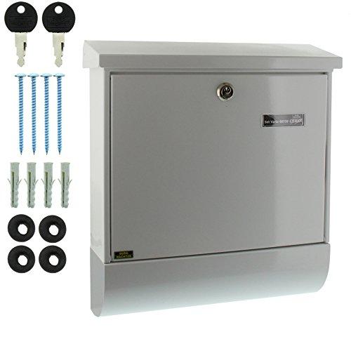 BURG-WÄCHTER, Briefkasten-Set mit Zeitungsbox A4 Einwurf-Format, Verzinkter Stahl, Set Vario W, Weiß - 6