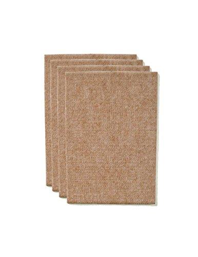 The Felt Store Vilten snijden, ca. 11 cm x 15 cm x 0,5 cm dik, beige, extra duurzaam - 4 vellen