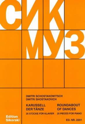 Karussell der Taenze - arrangiert für Klavier [Noten / Sheetmusic] Komponist: SCHOSTAKOWITSCH DMITRI