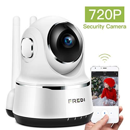 Fredi WLAN-IP-Kamera, 720P Überwachungskamera, Baby-Monitor mit P2P, Bewegungserkennung, Zwei-Wege-Audio und Nachtsicht