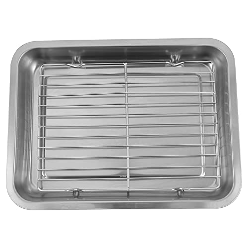 YARNOW 1 Set Baking Sheet with Rack Set Stainless Steel Baking Pans with Cooling Racks Cookie Sheet Pan Serving Platter Tray for Oven Grill