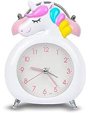 Hodoo めざまし時計 置き時計 電池式 明かり 針時計 卓上時計 アラーム