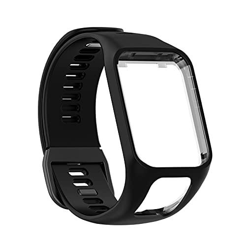 ICRPSTU Compatible with Tomtom Runner 2 3,Spark 3,Golfer 2,Adventurer - Silicone Replacement Strap Bracelet Wristband - GPS Smart Watch Accessories