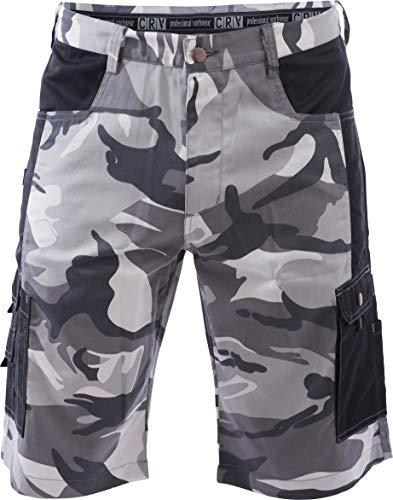 DINOZAVR Crambe Pantaloni Corti da Lavoro Uomo - Bermuda Cargo Pantaloncini Estivi con Tasche Multifunzione - Grigio 3XL