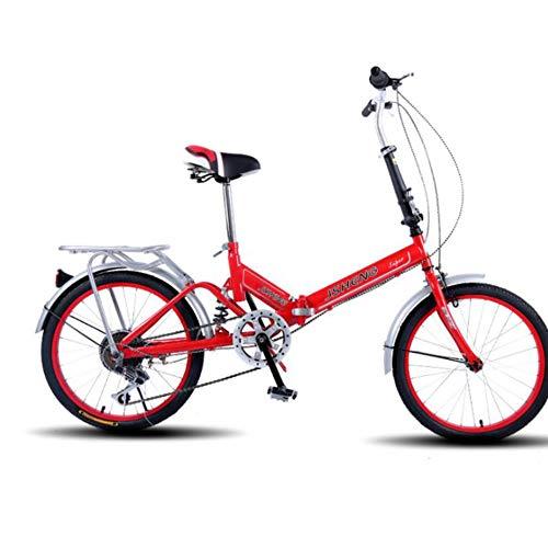 Archer Plegado De Velocidad Variable De 20 Pulgadas Bicicleta Unisex-Adulto Suspensión Delantera...