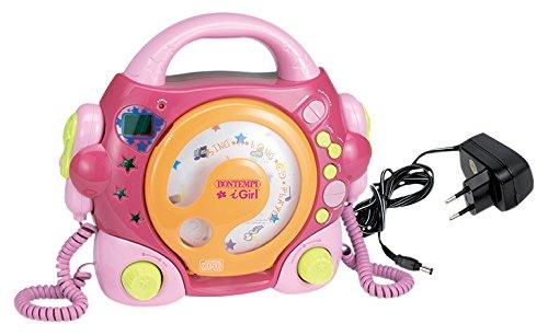 Bontempi 43 9972 - Lettore CD con due microfoni Sing-a-Long e porta USB