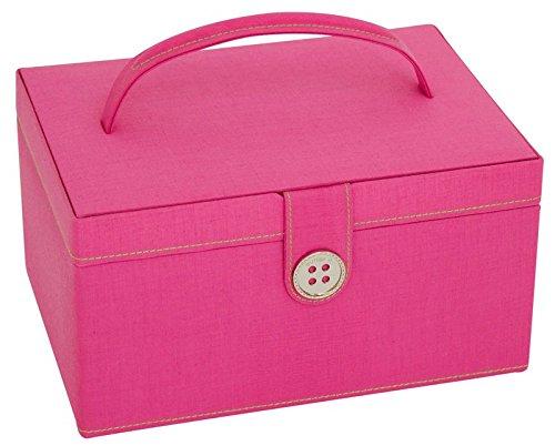 Button It 82224 rosa verde forro de costura para caja de almacenaje ½ 24 x 17 cm x 12 cm