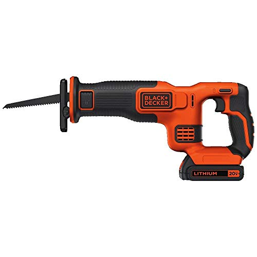BLACK+DECKER BDCR20C 20V MAX Reciprocating Saw with Battery and Charger (Renewed)