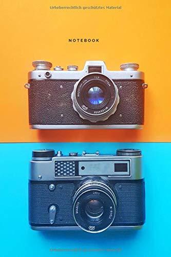 Notebook: Kamera. Perfektes Geschenk für Fotografen, für Männer, für Frauen, Jungen und Mädchen. Tagebuch, Erinnerungsbuch zum Schreiben (110 Seiten liniertes, 6