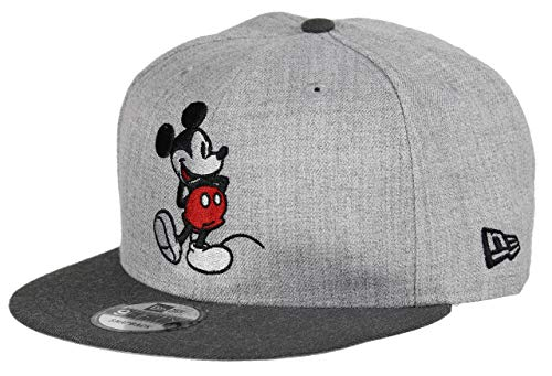 New Era Mickey Mouse 9fifty Snapback Cap - Comic Graphite - Heather Graphite - One-Size