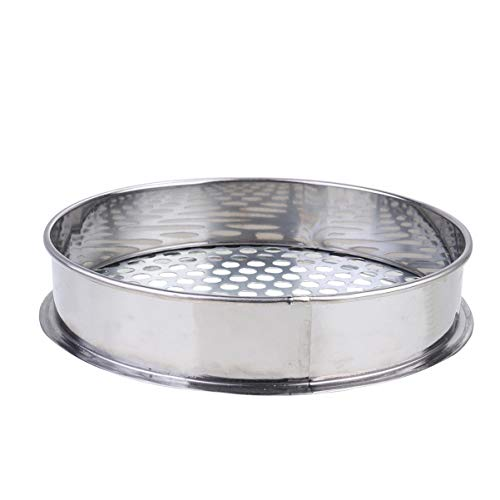 Cabilock Soil Sieve Mesh Filter Trapping Dirt Sifter for Japanese Bonsai Gardening Cultivation Tool 20cm 10mm