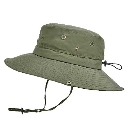 N\C Sombrero de pescador al aire libre transpirable sombrero de sol sombrero de sol montañismo pesca sombrero del sol del ejército verde