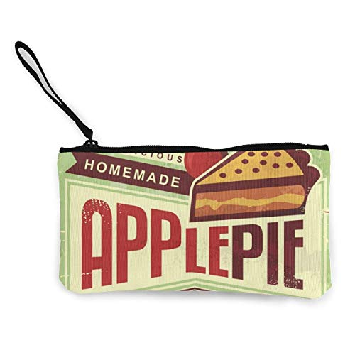 Delizioso Casereccio Pie Retro Promozionale Adv Tela Coin Purse Cambiare Cash Bag Piccola Borsa Portafogli