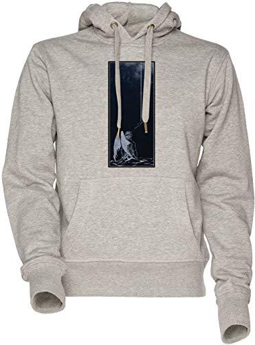 Vendax Arte tu Quella traditore Angelo - Il Devils Festa Unisex Uomo Donna Felpa con Cappuccio Grigio Men's Women's Hoodie Sweatshirt Grey