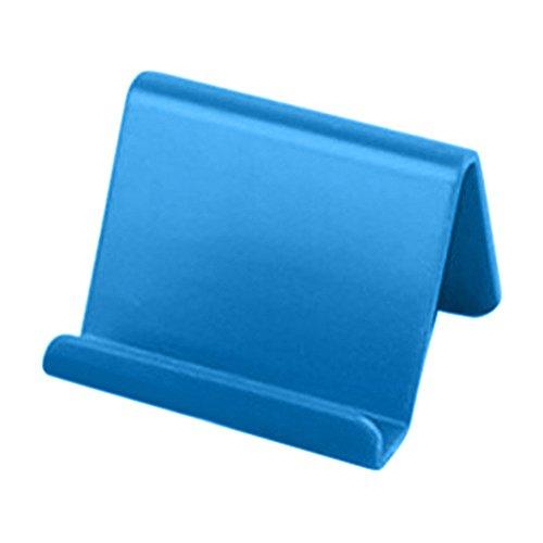 Riou Handy Ständer, Handy Halterung Smartphone Ständer Tablet Ständer Handyhalterung Tisch Aufsteller Tragbar Basic Handy Halter (Blau)
