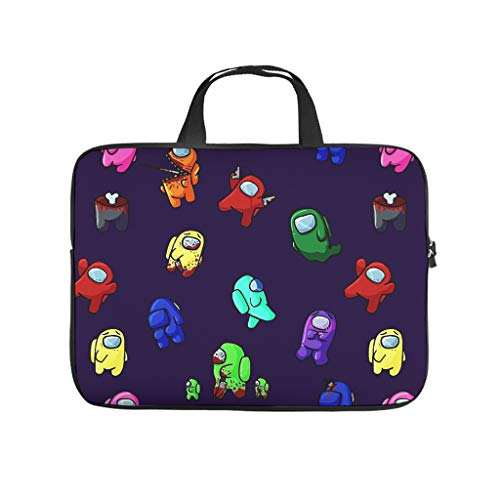 Among Us Bolsa para ordenador portátil Multifuntional Super Ligero Laptop Case Sleeve Business Briefbag para el trabajo estudio para hombres y mujeres