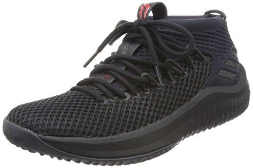 adidas Dame 4, Zapatillas de Deporte para Hombre, Negro (Negbas/Negbas/Ftwbla), 50 2/3 EU