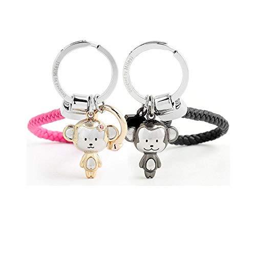 MILESI Love Style Affe Maskottchen Schlüsselanhänger Paare Valentinstag Geschenk