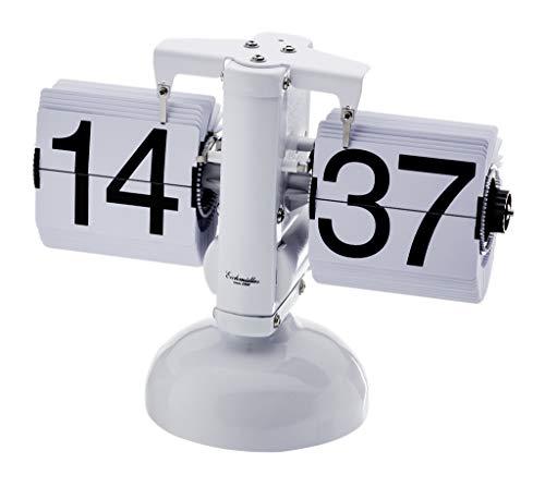 Eichmüller since 1950 Retro Flip Uhr - Tischuhr - weiß weiß