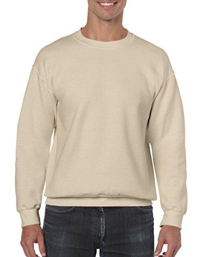 Gildan Heavy Blend 18000,felpa per adulti, scollo rotondo Off-White Large
