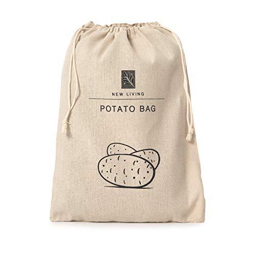 Potato Bag Linen Cotton Materials   Eco Product   by New Living   Food Storage Bag   26 * 38cm