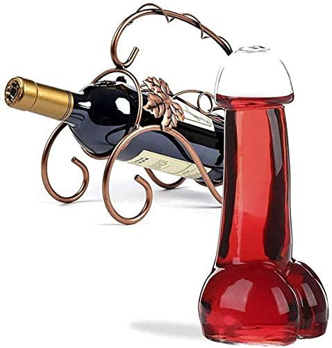 Copa de Cerveza Sexy Transparente Creativa, Gafas de Vino de cóctel clásico de Flujo Gratis Conjunto de 10 para la decoración de Barras Personalidad Whisky Glass 21-408