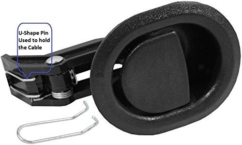Desconocido Sillón reclinable de Repuesto Partes @ pequeño Ovalado Negro plástico Tirador de sillón reclinable, Flapper Estilo, se envía con Nuestra Propia diseñado Bolsa @ Eric & Leon Logo