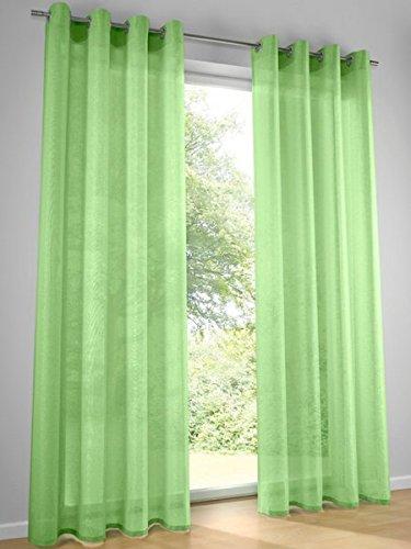Dekostore, Farbe Grün, 1 Stück, Heine Home, 622 - Gardinen, Größe: ca. HxB: 245x135 cm, mit Ösen
