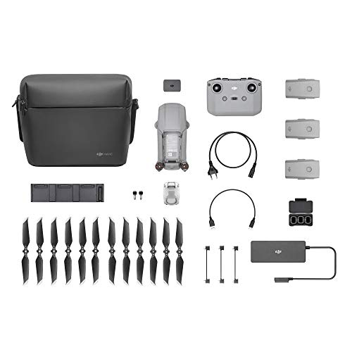 "DJI Mavic Air 2 Fly More Combo - Drone Quadcopter UAV with 48MP Camera 4K Video 1/2"" CMOS Sensor 3-Axis Gimbal 34min Flight Time ActiveTrack 3.0, Grey"
