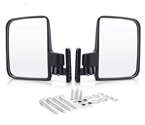 XIAOSHI Little Oriental Fit für Golfwagen Spiegel Universal Faltende Seitenansicht Spiegel Flexible Anpassung Fit für Clubwagen Fit für Yamaha Zone Carts (Color : Black)