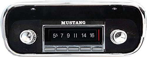 1967-1973 Ford Mustang 300 watt USA-740 AM FM Car Stereo/Radio with built-in Bluetooth, AUX Inputs, Color Change LCD Digital Display