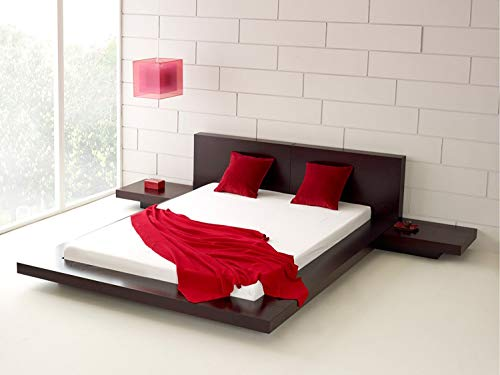 Fujian Modern Bed 2 Night Stands King (Espresso)