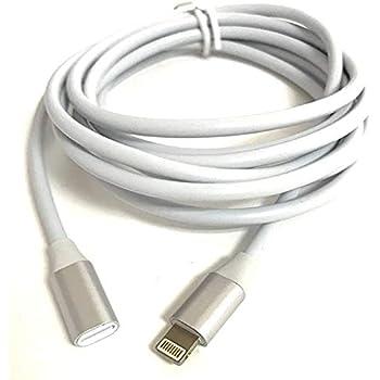 Access <200cm> アルミスリムヘッド ライトニング 延長 ケーブル ホワイト 8pin lightning 延長 オスメス ライトニング充電 + データ伝送 びオーディビデオ OTG ライトニングケーブル 2.0M for iPhone/iPad/iPod用 延長コード iP22AW-200A
