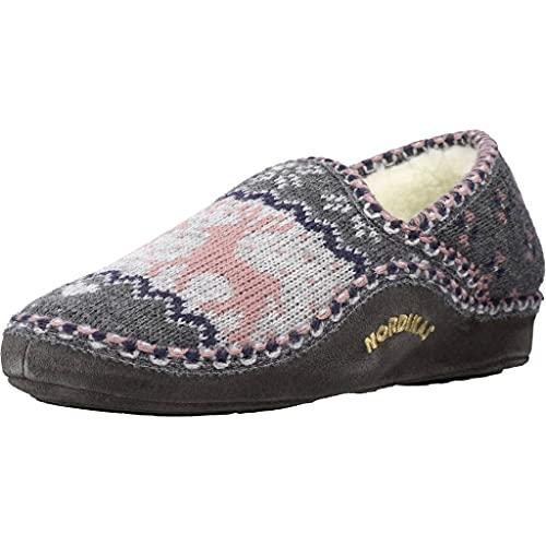 Nordikas Zapatillas Casa Mujer Alce para Mujer Gris 37 EU
