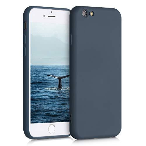 kwmobile Cover Compatibile con Apple iPhone 6 / 6S - Custodia in Silicone Effetto Gommato - Back Case Protezione Cellulare - Ardesia