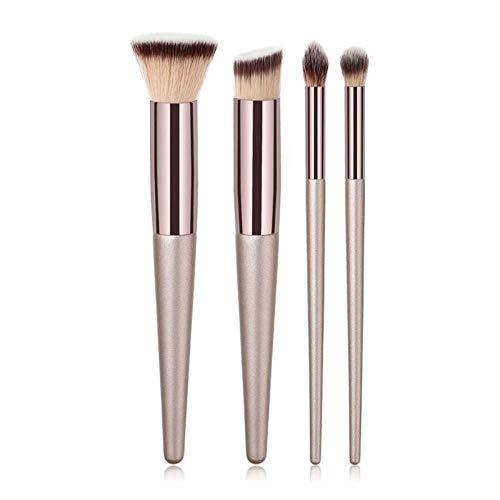 MEISINI Maquillage Brush Set Fondation Brush Fard À Paupières Yeux En Poudre Sourcils Eyeliner Lèvres Maquillage Pinceaux Cosmétiques Outils De Beauté, 4Pcs Pxx2