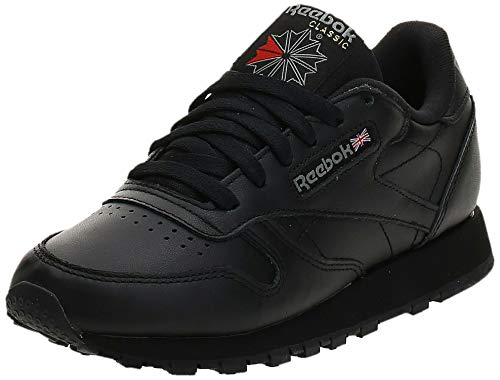 Reebok Damen Classic Leather Sneakers, Schwarz (Schwarz/black), 39 EU