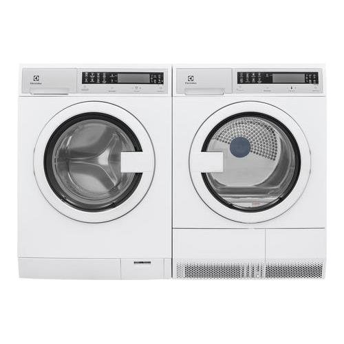 Electrolux White Compact Front Load Laundry Pair with EFLS210TIW 24' Washer and EFDE210TIW 24' Electric